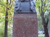 Bust of George Călinescu in the Alley of Classics of Chişinău.