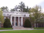 Tuck Hall, the Tuck School's main administrative building