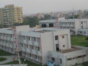 English: Temporary Hostel Blocks