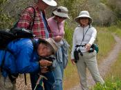 Docent Kit Mitsuoka of Morro Bay, CA helps lead the 09 April 2009 Coon Creek Hike in Montana de Oro.