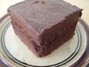 Schokoladenkuchen von McCafe (Mcdonalds) - 2,25 EURO (2008); chocolate cake - McCafe, Germany