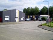 English: Business Park Several small businesses have been given premises and grants to start up here