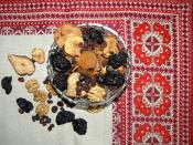 Dried fruits for the preparation of