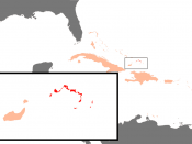 English: Position of Turks and Caicos in the Carribbean