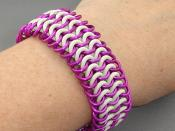 Euro 4 in 1 Chainmaille Bracelet in Anodized Aluminum & Rubber