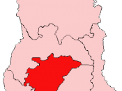 Location of Ashanti Region in Ghana