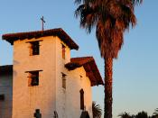 Mission San Jose and Moon