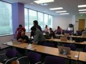 Juku 09 class, coding away