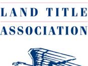 This is the logo for the American Land Title Association