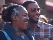 English: C. C. H. Pounder and Laz Alonso at a ceremony for James Cameron to receive a star on the Hollywood Walk of Fame.