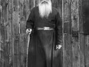 Priest, Valamo Monastery, Karelia, Russia