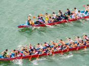 賽龍 Dragon Race / 香港警察龍舟會: 富利龍和五週年會長紀念龍 Hong Kong Police Dragon Boat Club Medium-sized Dragon Boats / 香港水上體育運動 Hong Kong Water Sports / SML.20130817.7D.50621