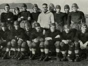 English: Indiana High School football team, circa 1921
