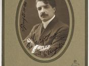 Giuseppe Angelini, conductor to the Melba-Williamson Opera Company, Sydney, 25 October 1911 / photograph by Melba Studio