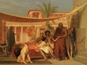 Jean-Léon Gérôme (1824–1904): Socrates seeking Alcibiades in the House of Aspasia, 1861.