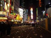 Times Square after new year's eve party