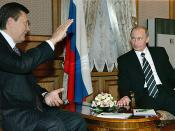 President Putin visits Ukraine and Prime Minister of Ukraine Viktor Yanukovych.