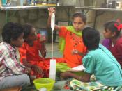 The Kuppam Creative Lab encourages hands-on learning of scientific concepts.