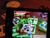 English: Screenshot of mobile augmented reality game.