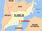 English: Map of Iloilo showing the location of Zarraga