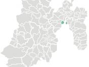 locatie van de gemeente Tlalnepantla de Baz in Mexico (staat)