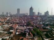 A view of office buildings and dwellings in Surabaya