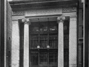 English: Photograph of Kidder Peabody Offices on Devonshire Street ca. 1908