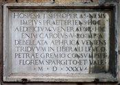 Lapide di Carlo V - Portici (Napoli) - Villa Nava o Leucopetra