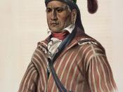 English: ME-NA-WA. A CREEK WARRIOR, from History of the Indian Tribes of North America