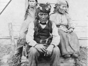 Beaver (Dunneza) chief and family Peace River area Alberta NA-1440-8