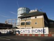 English: Battersea Dogs and Cats Home Another view of 85282 , founded in 1860, with that gasholder (617252) dominating the view behind as it does so many views in this part of Battersea.