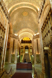 Interior of the Woolworth Building in New York City
