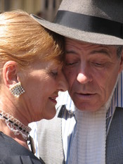 Tango couple in a close-up picture