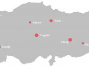 English: Turkish wine regions map