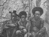 A picture of a group of Papuans.