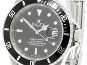 Rolex Submariner model 16610, with a water resistance of 300 meters (1000 feet). The model 16610 was produced from the year 1989 to 2010.