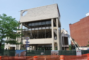 English: Troy's former city hall under deconstruction.