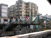 An entrance to the largest slum in Mumbai, and in all of Asia – home to more than one million people.