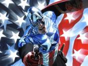 Bucky as Captain America. Art by Alex Ross