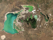 English: Tengiz and Korgaljinski Lakes, Kazakhstan