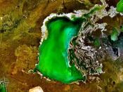 Lake Tengiz NASA