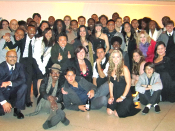 English: Group photograph of singers and musicians after a reunion performance in Washington, D.C. in December 2010, who earlier sang in the February 2010 online-collaborative charity video We Are the World 25 for Haiti (YouTube Edition).