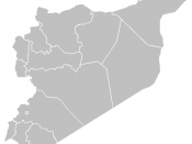 Blank map of Syria's governorates.