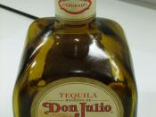 English: Photo of a bottle of Tequila Don Julio (Reposado variety), 20% full