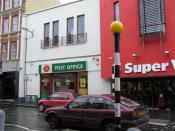 English: Post Office, Strabane It is part of the Supervalu Store on Main Street