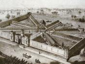 The State Penitentiary for the Eastern District of Pennsylvania, Lithograph by P.S: Duval and Co., 1855.
