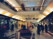 The ground floor of Brent Cross shopping centre. Opened in 1976, it was the first of its kind in the UK.