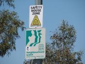 Sign denoting a Neighborhood Watch area in Canberra, Australia.