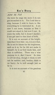 Eve's Diary. — Harper & Brothers, New York, London, 1906.