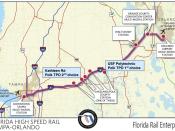 Florida Rail Enterprise map of the Orlando Tampa route